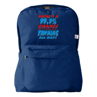 99.9% YAWNING ALL DAY (wht) Backpack