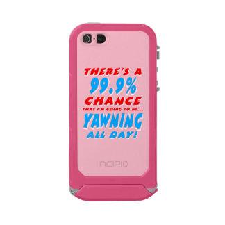 99.9% YAWNING ALL DAY (wht) Incipio ATLAS ID™ iPhone 5 Case