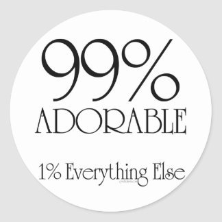 99% Adorable Round Stickers