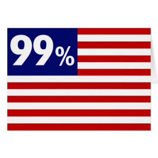 99 % American Flag - Occupy Wall Street Greeting Card