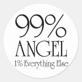 99% Angel Round Sticker
