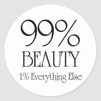 99% Beauty Classic Round Sticker