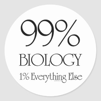 99% Biology Classic Round Sticker
