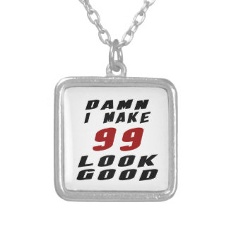99 Birthday Designs Square Pendant Necklace
