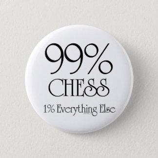 99% Chess 6 Cm Round Badge