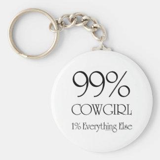 99% Cowgirl Keychain