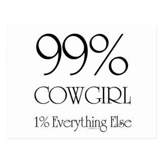 99% Cowgirl Postcard