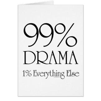 99% Drama Greeting Card