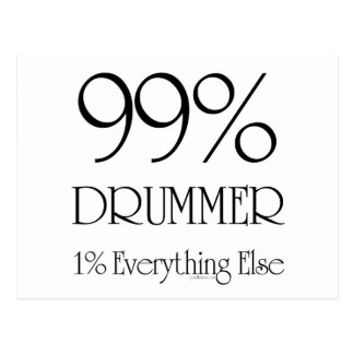 99% Drummer Postcard