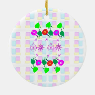 99  GIFTS : Nature Lover Girly Flower Prints Christmas Ornaments