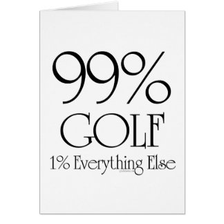 99% Golf Card