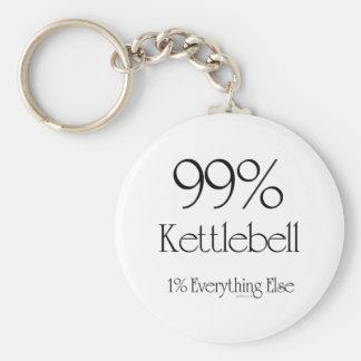99% Kettlebell Basic Round Button Key Ring