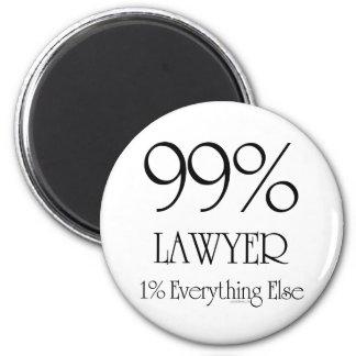 99% Lawyer 6 Cm Round Magnet