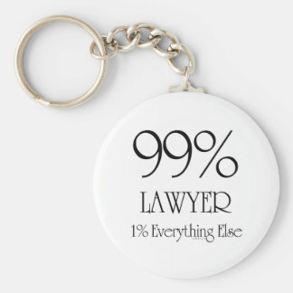 99% Lawyer Basic Round Button Key Ring