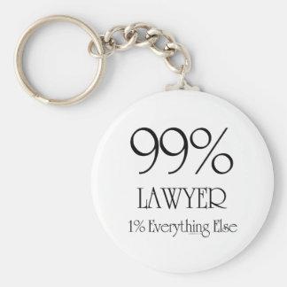 99% Lawyer Basic Round Button Key Ring