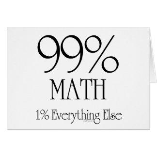 99% Math Card