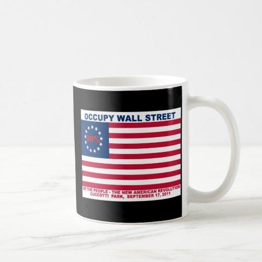 99% Occupy Wall Street Flag The New Revolution Mugs