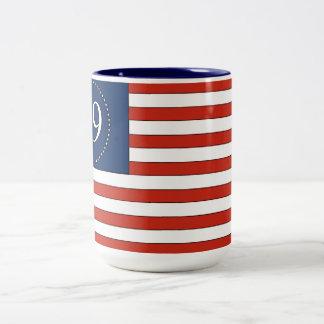 99% Old Glory pattern patriotic coffee mug