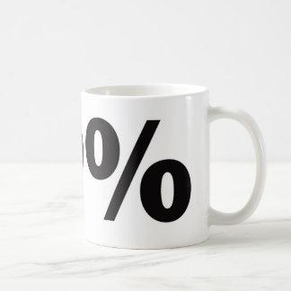 99 Percent Basic White Mug