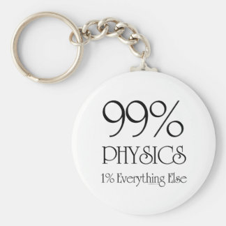 99% Physics Basic Round Button Key Ring