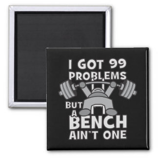 99 Problems But A Bench Ain't One - Kawaii Workout Magnet