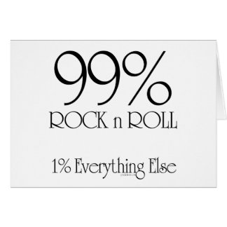 99% Rock n Roll Card