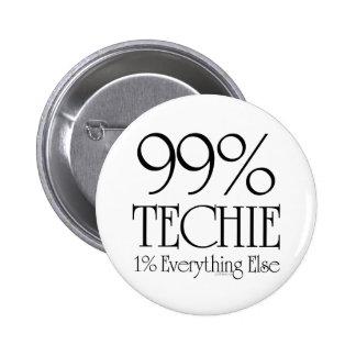99% Techie 6 Cm Round Badge