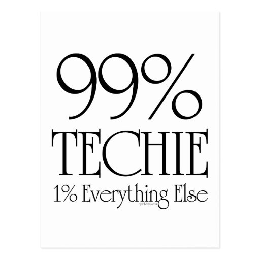99% Techie Post Cards