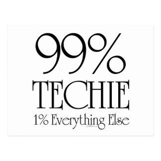 99% Techie Postcard