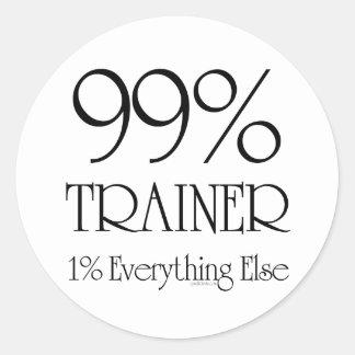 99% Trainer Round Sticker