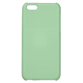 99CC99 Celadon Green Solid Color Background Cover For iPhone 5C