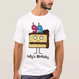 99th Birthday Cake with Candles T-Shirt