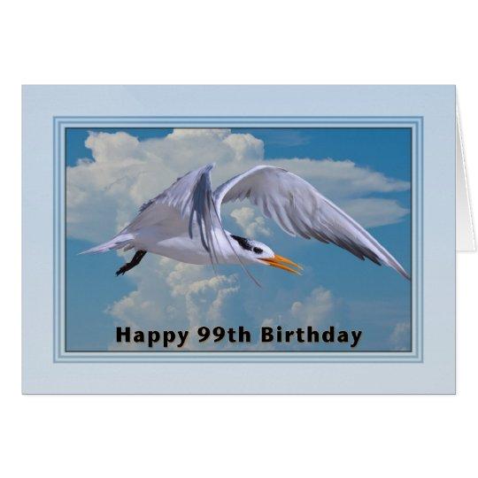 99th Birthday Card with Royal Tern Bird