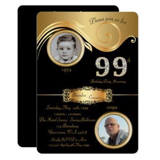 99th,Birthday Man 99th,elegant art deco,black Card