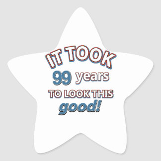 99th year old birthday designs stickers