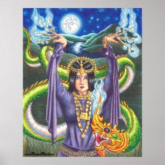9 0f Wands Poster 78 Tarot Poster Thai Dragon