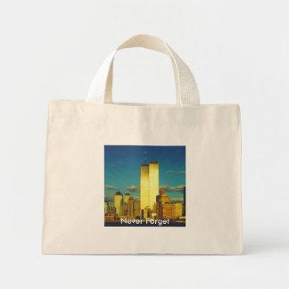 9-10 (twin towers) mini tote bag