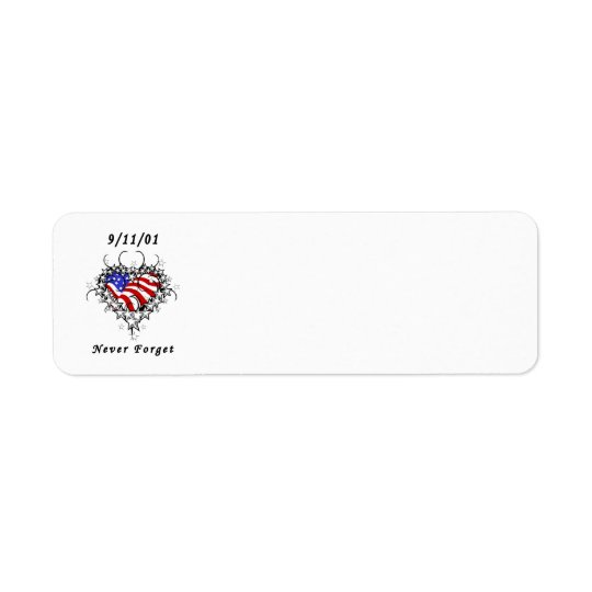 9/11/01 Patriotic Tattoo Return Address Label