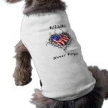 9/11/01 Patriotic Tattoo Sleeveless Dog Shirt