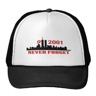 9-11-2011 NEVER FORGET HATS
