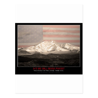 9-11 American Twin Peaks Tribute Postcard
