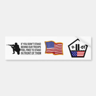 9/11 and Support Our Troops 2in1 Bumper Sticker