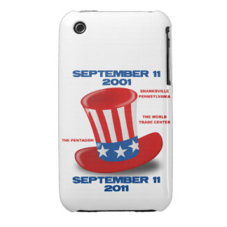 9 11 Anniversary Blackberry Curve Case-Mate Case iPhone 3 Cases