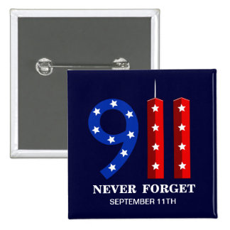 9 11 Anniversary - Never Forget - WTC Pins