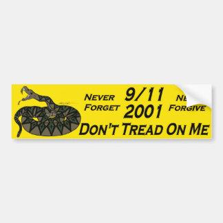 9/11 Gadsden Bumper Sticker