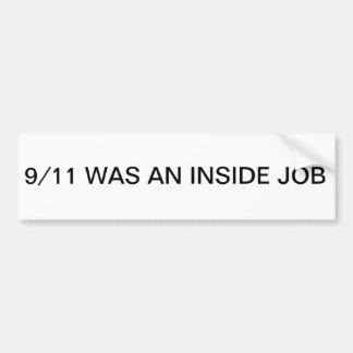 9/11 Inside Job Bumper Sticker