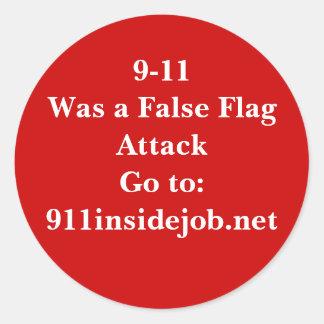 9-11 Inside Job Classic Round Sticker