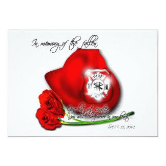"""9/11 memorial Invitation 5"""" X 7"""" Invitation Card"""