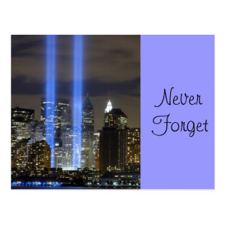 9 11 Never Forget, Always Remember Postcard