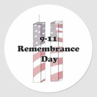 9-11 Remembrance  Day - Patriot Day Round Sticker